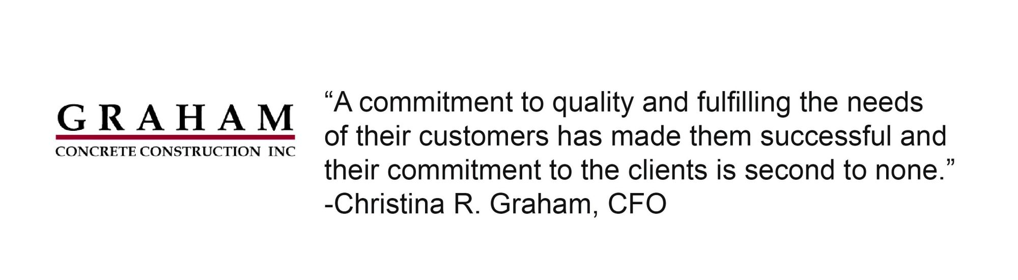 Graham Concrete Construction Inc testimonial