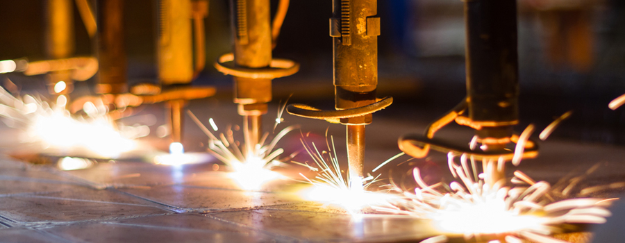 machines making sparks fly